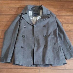 Men's Banana Republic gray pea coat size L